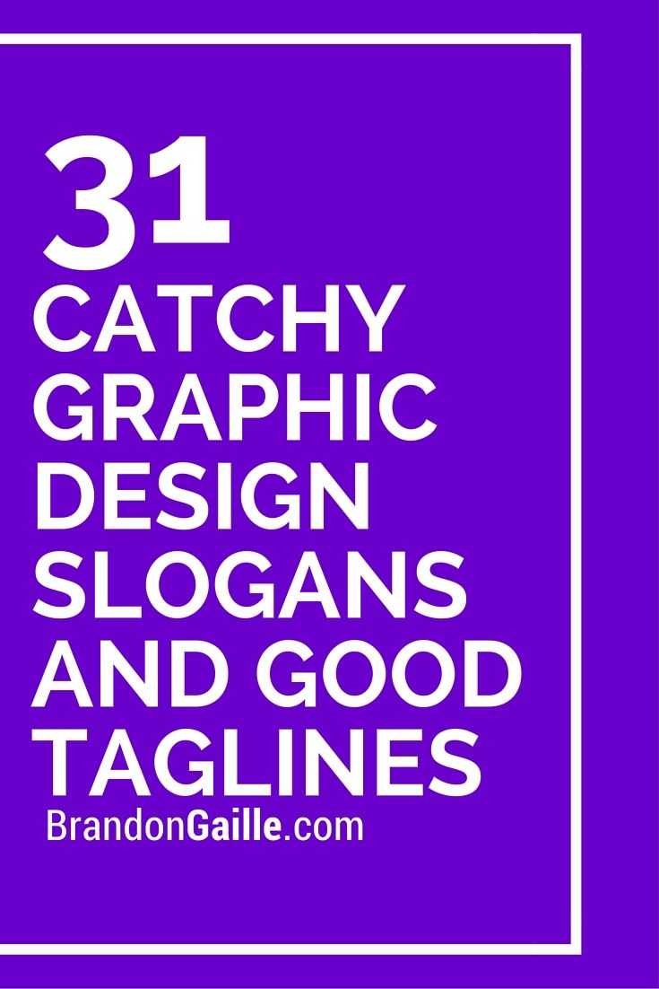 list of 33 catchy graphic design slogans and good taglines