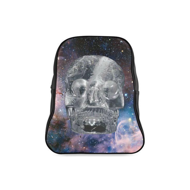Crystall Skull School Backpack. FREE Shipping. #artsadd #lbackpacks #skulls