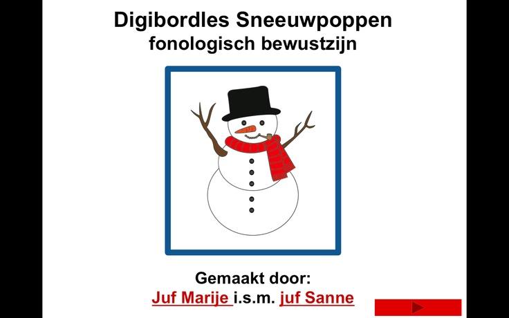 Digibordles Sneeuwpoppen