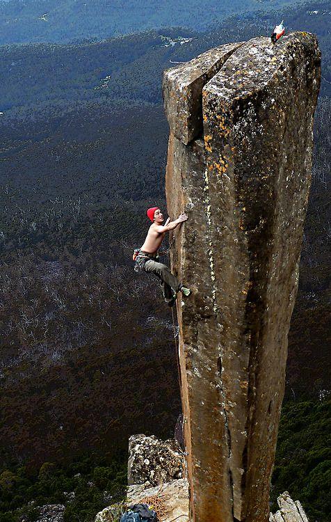 Vertical climb in Tasmania. #MeetTheMoment