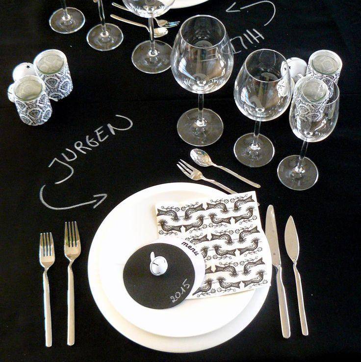 Schrijf eens iets op uw tafel ... + leuk kerstkaartidee