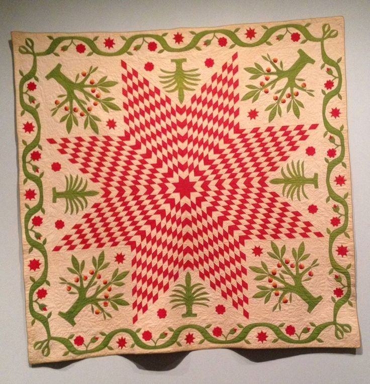 Lone Star with Trees, COLOR and QUILTS: Pilgrim Roy Collection, Boston Museum of Fine Arts