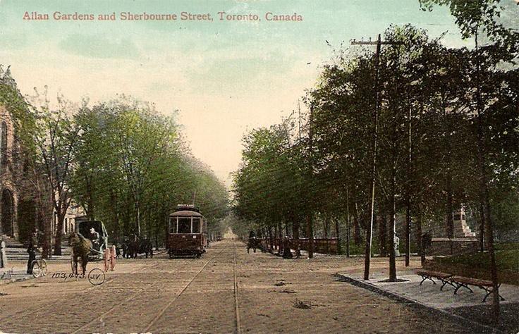 Allan Gardens at Sherbourne Street, Toronto, Ontario ca. 1910