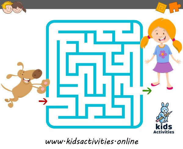 Funny Mazes For Kids Printable Puzzle For Children Kids Activities Mazes For Kids Printable Mazes For Kids Printables Kids Maze worksheets for year olds