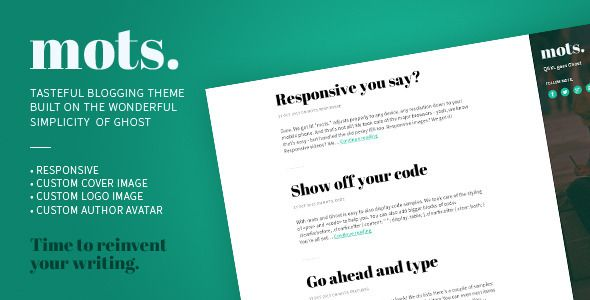 mots. - A tasteful, responsive Ghost Theme - Ghost Themes Blogging