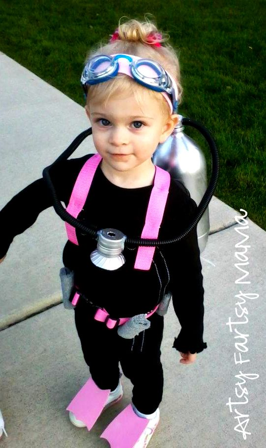 diy scuba diver halloween costume at artsyfartsymamacom halloween - Funniest Kids Halloween Costumes