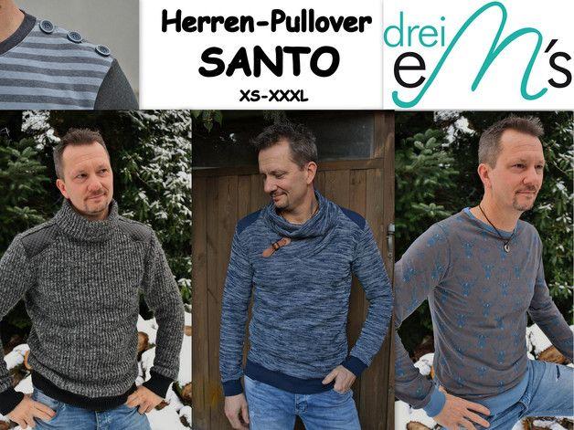 E-Books & Anleitungen - Ebook Herren Pullover SANTO XS-XXXL - ein Designerstück von dreiems-Materialshop bei DaWanda