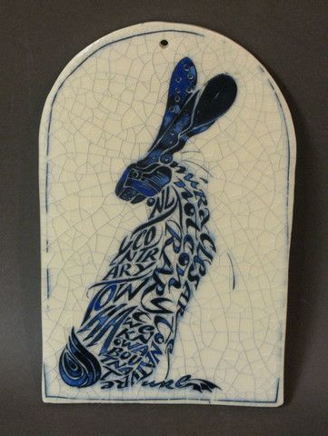 Hare Poetry Tile http://www.shop.obsidianart.co.uk/collections/iris-milward?page=2