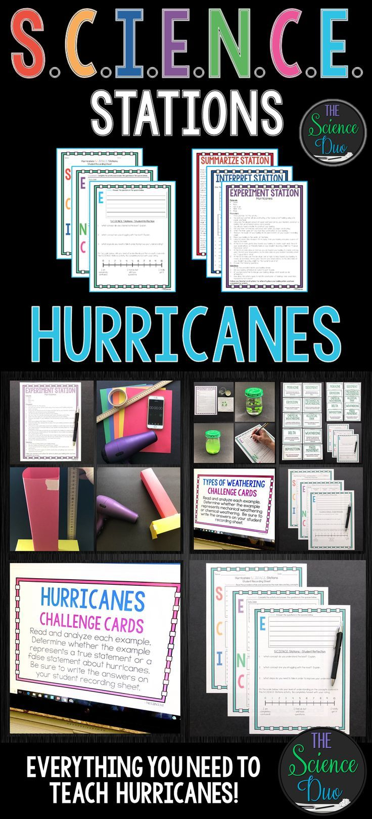 Hurricanes S C I E N C E Stations Distance Learning Compatible Middle School Science Activities Middle School Science Teacher Science Stations