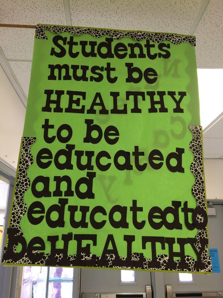 We love this great sign we saw at Popp's Ferry Elementary (Biloxi Public School District)! #brainbreaks #classroom #bulletinboards #Teachers