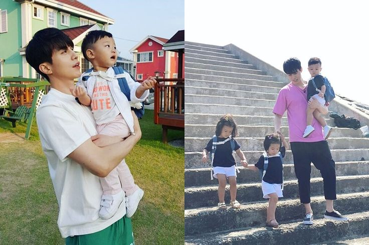 Lee Dong Wook - Return of Superman variety show 'Uncle Dong Wook visits with Professional soccer player Lee Dong Gook's three youngest children