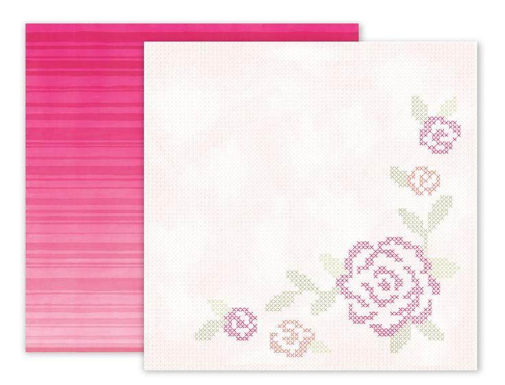 Papel Cross Stich Rose 30×30  Descripción:   Papel de 30×30 cm, impreso a doble cara.  ideal para tus creaciones de scrapbook y manualidades.