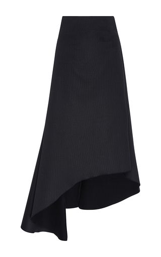 This **Ellery** skirt features a high rise and a flared asymmetrical hem.