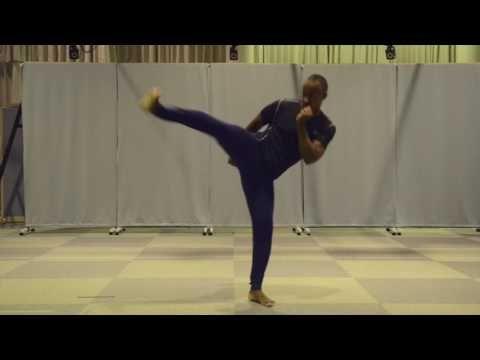 格闘家の蹴りから学ぶ、身体の動きと原理 ~6 横蹴り(横) - YouTube