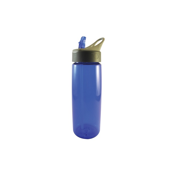 COD.TT010 Botella para líquidos. Con tapa y boquilla incluido. Interior y exterior plástico.