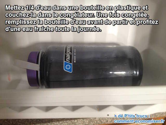 Que diriez-vous de garder votre bouteille d'eau froide toute une journée ? Et bien sachez qu'il existe une astuce toute simple pour boire frais toute la journée.  Découvrez l'astuce ici : http://www.comment-economiser.fr/l-astuce-pour-garder-votre-bouteille-d-eau-froide.html?utm_content=buffer12deb&utm_medium=social&utm_source=pinterest.com&utm_campaign=buffer