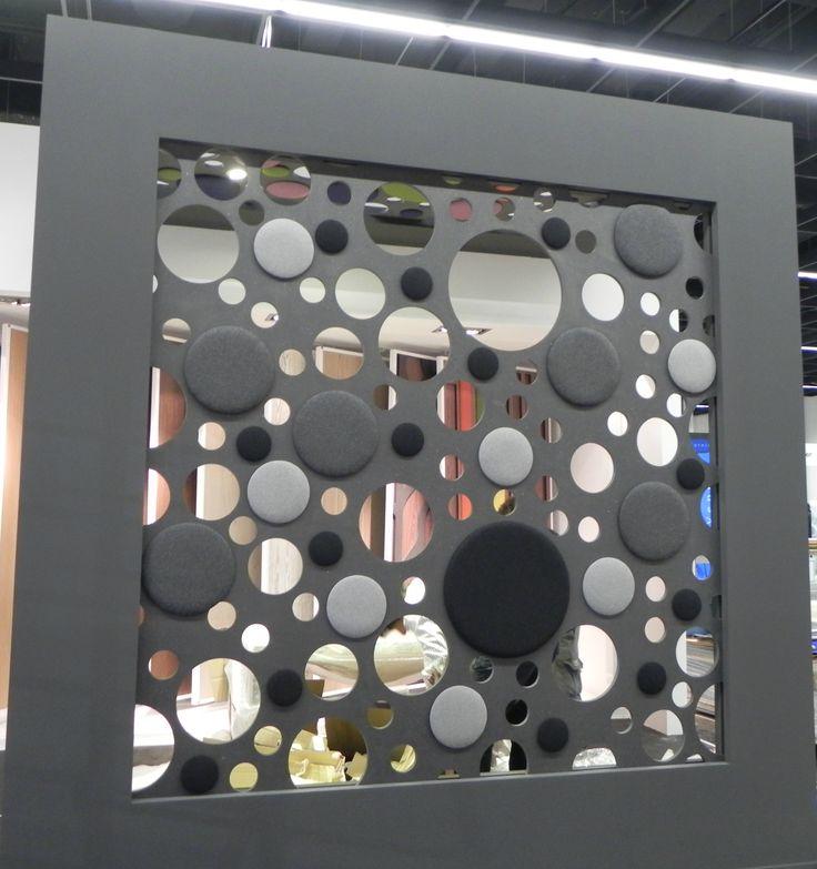 MDF black matt lacquer with black and grey fabrics