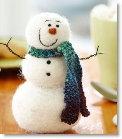 Felted Frosty the Snowman Craft Tutorial · Felting | CraftGossip.com