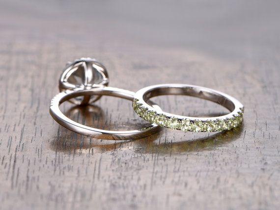 2st. 7mm ronde geslepen Aquamarijn bruiloft verlovingsring