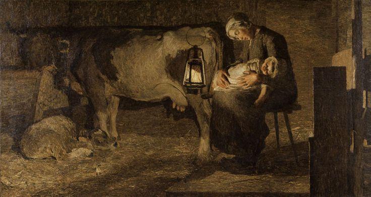 Giovanni Segantini_ Le due madri_ 1889_ olio su tela, 162,5 x 301 cm_ Milano, Galleria d'Arte Moderna