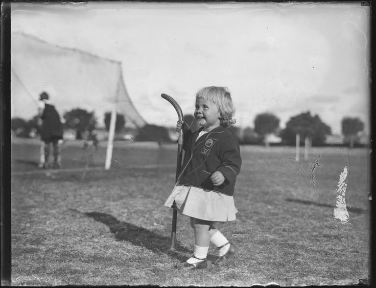 048680PD: Barbara Rowbottom, of Cottesloe, the 17 month old mascot of the W.A. Girl's Hockey Team, 1929.  http://encore.slwa.wa.gov.au/iii/encore/record/C__Rb2513459__S048680pd__Orightresult__U__X3?lang=eng&suite=def