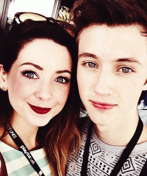 Zoe Sugg and Troye Sivan. I have picture day today! Yay... But my hair turned out as planned, so today is a good day, today is a good day. Comment below on the pin that says leave a comment, and please do so! It's FRIDAY!!!!