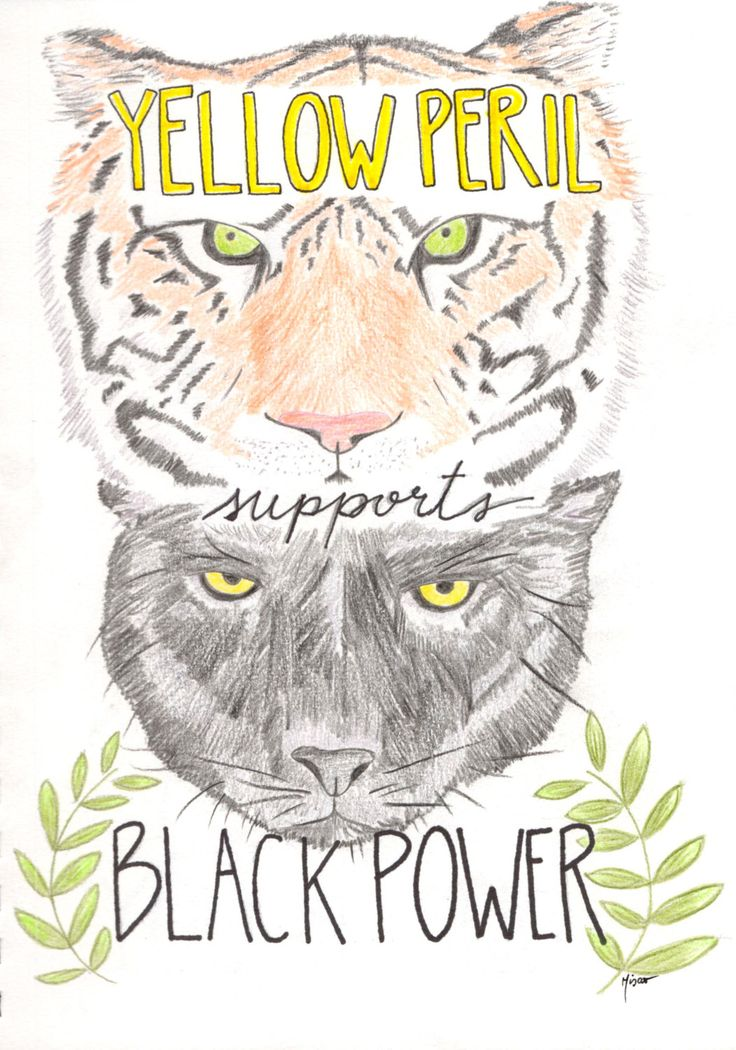 Yellow Peril Supports Black Power - DIGITAL FILE ONLY by tempestuousyasashii on Etsy https://www.etsy.com/listing/509280159/yellow-peril-supports-black-power
