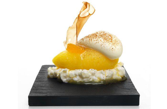 ris à la malta med clementinsorbet och kanelcrème
