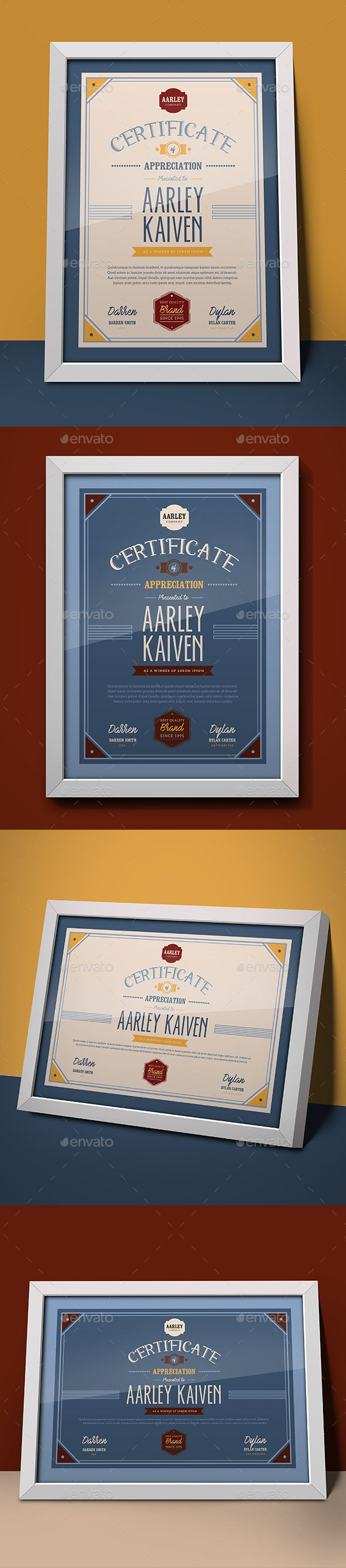 #Multipurpose #Certificates - Certificates #Stationery Download here: https://graphicriver.net/item/multipurpose-certificates/18800256?ref=alena994