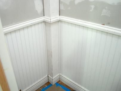 Wainscoting and Tiling a Half Bath #bathroom #renovations #adelaide http://bathroom.nef2.com/2017/06/10/wainscoting-and-tiling-a-half-bath-bathroom-renovations-adelaide/ #wainscoting bathroom Wainscoting and Tiling a Half Bath Tools and Materials: finish nailer construction adhesive and caulking gun circular saw jig saw painting supplies drywall screws and a screw gun 1/2-inch drywall drywall jab saw 6-inch putty knife drywall screws… Read more