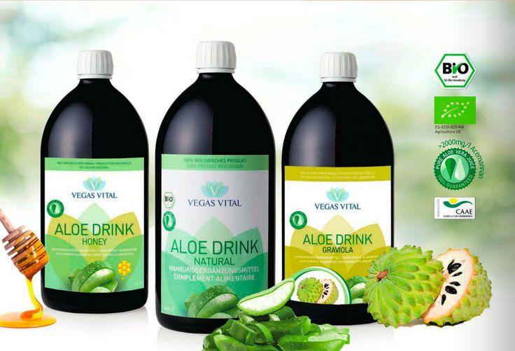 Koldpresset Aloe Vera - Organics - 2.000 mg Acemannan.