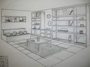 Fuga Interior, Interior Buscar, Dibuix Cònica, Dos Puntos De Fuga, Perspectiva 2, Geometria Descriptiva, 2 Puntos, Mecano, Dibujo Técnico