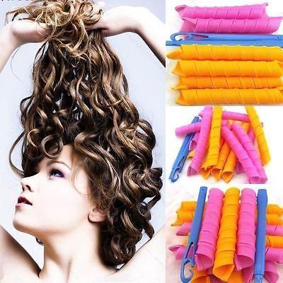 Magic DIY Ringlet Hair Curlers Long Curl formers Spiral Rollers Curler Tool HOT!