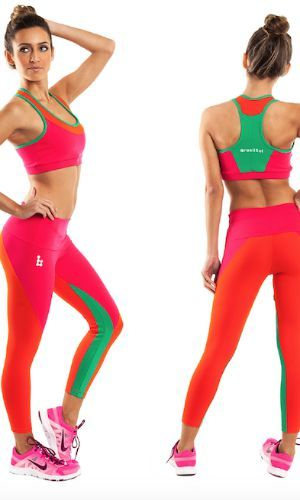 Gorgeous in colour, these hot pink and green colourful ankle length leggings made from SUPPLEX Lycra® fabric which offers great comfort, stretch and style.