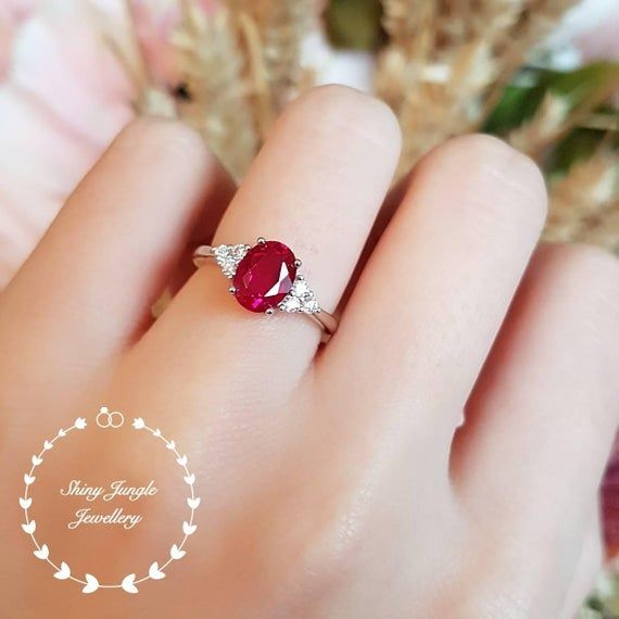 Designer Finger Band Of Ruby 925 Sterling Silver Ring Of Ruby 4 MM Round Ruby Ring July Birthstone Ruby Silver Ring For Love Ones