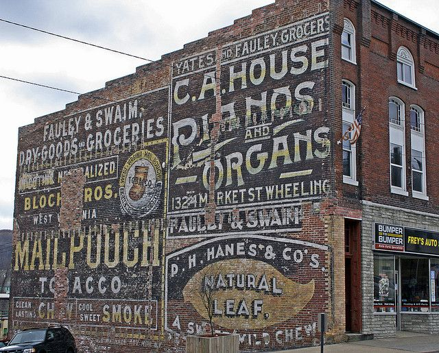 Wall Ads in Grafton WV by crazysanman.history, via Flickr
