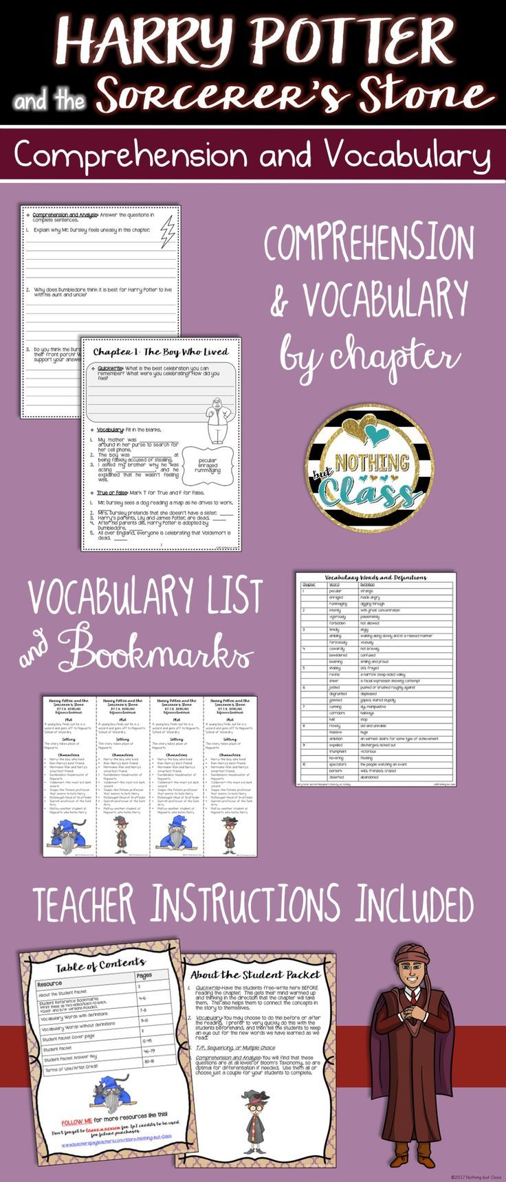 This Is A 78 Page Chapter By Chapter Guide For Harry Potter And The Sorcerer S Stone Or Harry Pott Harry Potter Activities Harry Potter Classroom Harry Potter