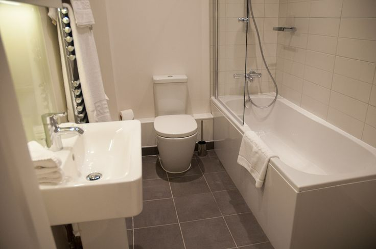 Modern bathrooms, complete with bathtubs