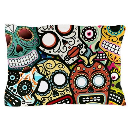Day of the Dead Pillow Case on CafePress.com