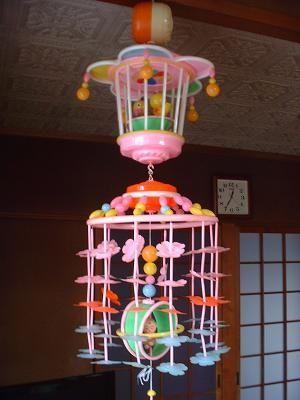 凄い懐かしい! ☆Retro Japanese Baby Crib Mobile called 'Merry-go-round' or the 'Music Merry' in Japanese. 日本語名はメリーゴーランド、もしくはミュージック・メリーなど。