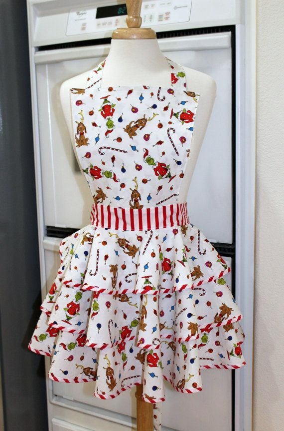 Grinch Who Stole Christmas Retro Circle Skirt by MySeamingBrain