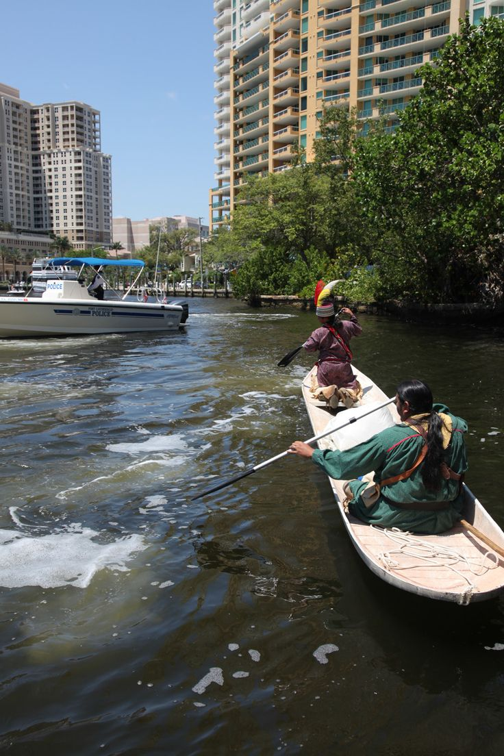 Tribal members fight to preserve piece of Seminole history. Tribal members Everett Osceola and Pedro Zepeda paddled a traditional Seminole canoe down the New River Canal... | The Seminole Tribune