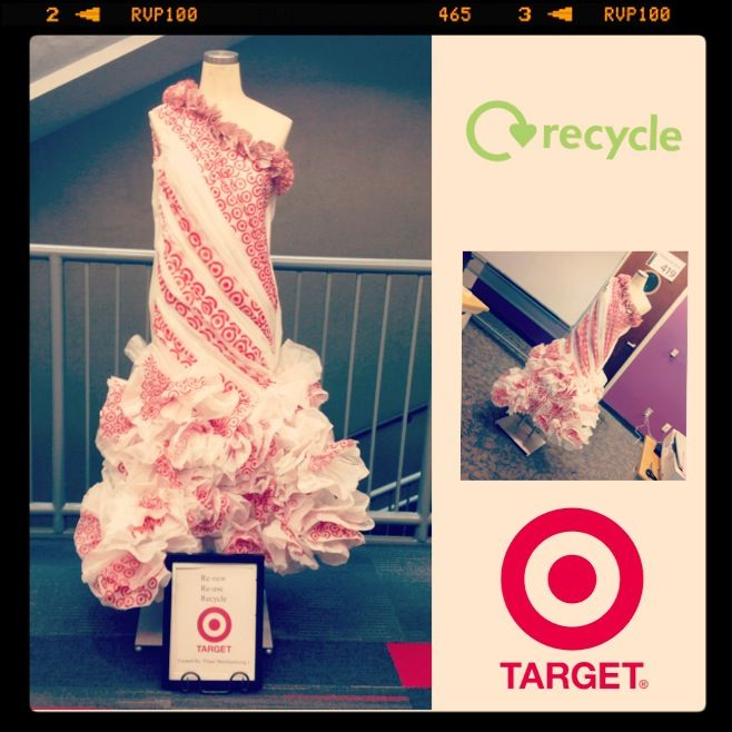 Plastic bag dress abc dress anything but clothes made for Recycle and redesign ideas