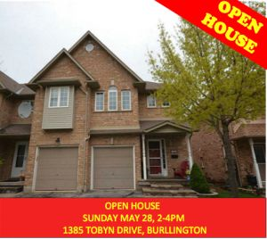 OPEN HOUSE – 1385 TOBYN DR. SUN. MAY 28, 2-4pm