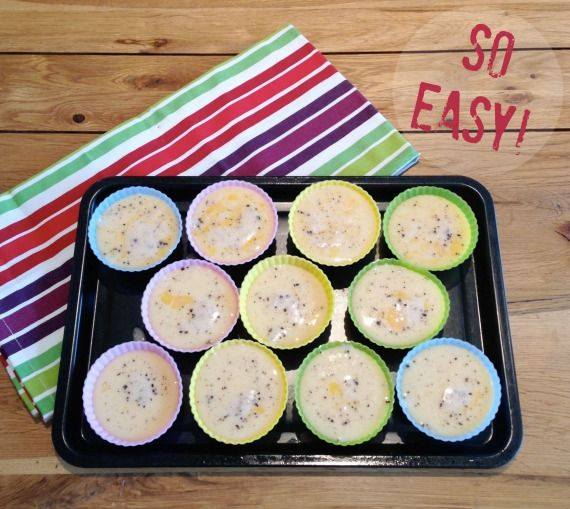 Mini crustless quiche. Perfect snack size and great for lunch boxes!
