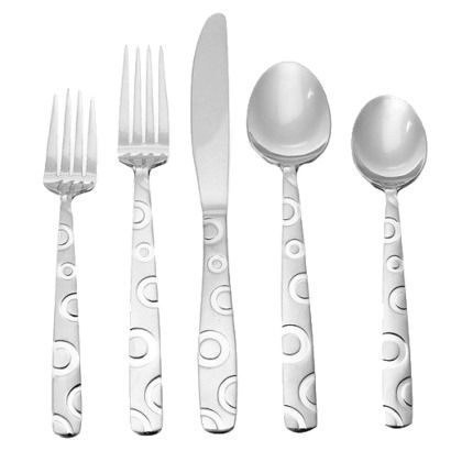 Solano flatware set 20 pc stainless steel threshold set of target threshold and we - Funky flatware sets ...