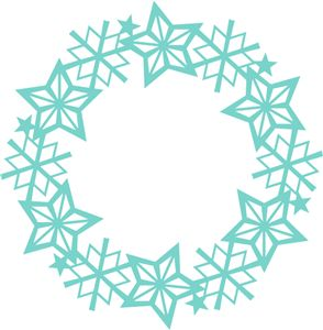 Silhouette Online Store: winter crystal wreath