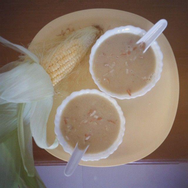 #AmmaSoup #corn #almond #healthy #happy #familyscenes #yo