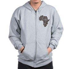 Africa in a giraffe camouflage Zip Hoodie