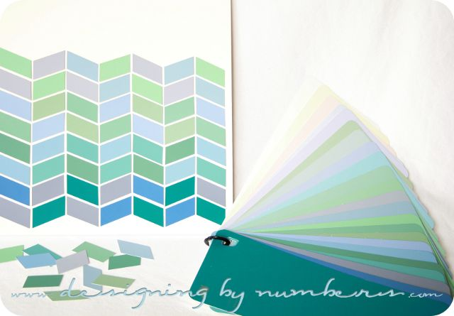 Herringbone art with DIY instructions and template.